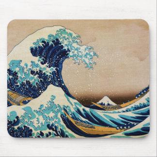 Tapis De Souris La grande vague par le Japonais vintage de Hokusai