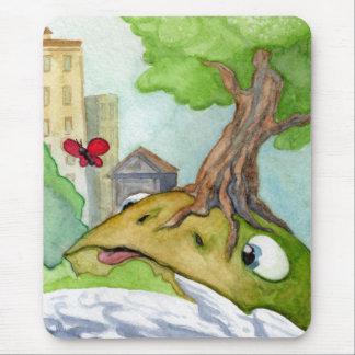 Tapis De Souris La grenouille et le papillon Mouspad de colline