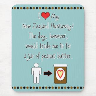 Tapis De Souris La ma Nouvelle Zélande Huntaway aime le beurre