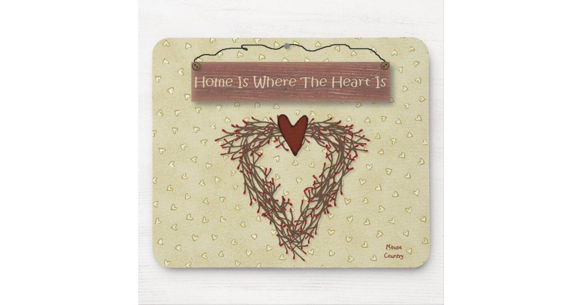 tapis de souris la maison est o le coeur est mousepad. Black Bedroom Furniture Sets. Home Design Ideas