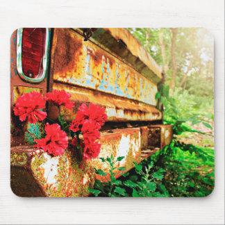 Tapis De Souris La nature a inspiré la voiture et la fleur