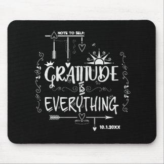 Tapis De Souris La note à la gratitude d'individu est tout tableau