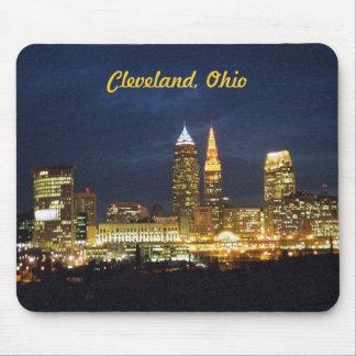 Tapis De Souris La nuit de Cleveland, Ohio allume Mousepad