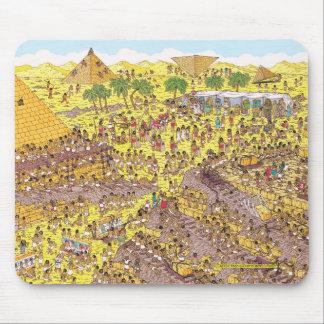 Tapis De Souris Là où est l'énigme de Waldo | des pyramides