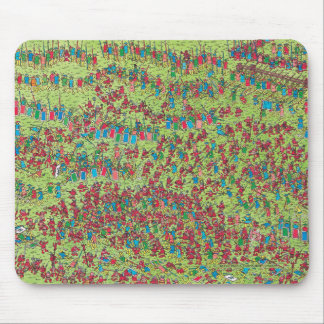 Tapis De Souris Là où est les nains rouges féroces de Waldo |