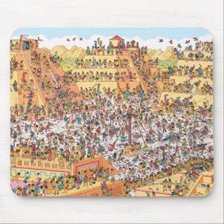 Tapis De Souris Là où est Waldo | de derniers jours des Aztèques