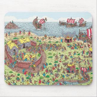Tapis De Souris Là où est Waldo | en tournée avec les Vikings