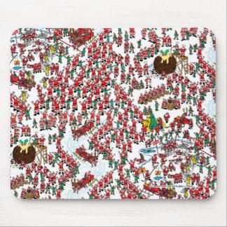Tapis De Souris Là où est Waldo | étant Père Noël