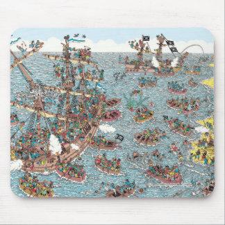 Tapis De Souris Là où est Waldo | étant un pirate