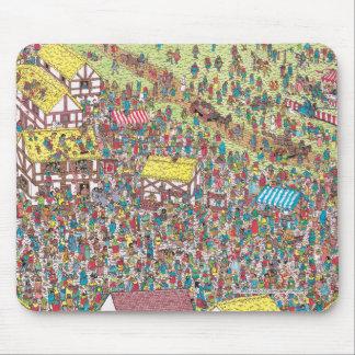 Tapis De Souris Là où est Waldo | une fois sur samedi matin