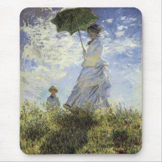 Tapis De Souris La promenade, Madame avec un parasol