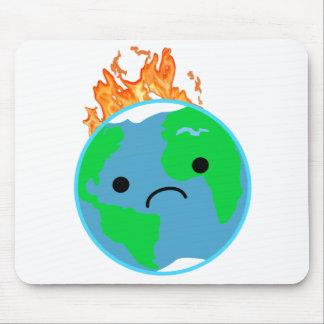 Tapis De Souris La terre sur le feu