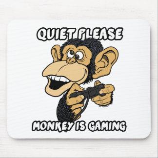 Tapis De Souris La tranquillité svp, singe est jeu