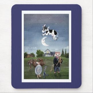 Tapis De Souris La vache sautée au-dessus de la lune