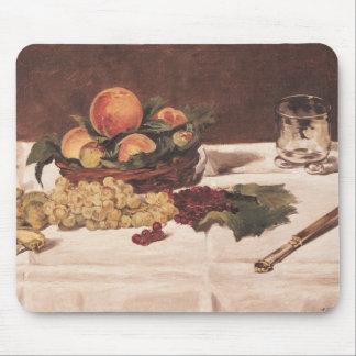 Tapis De Souris La vie de Manet | toujours : Fruit sur un Tableau,