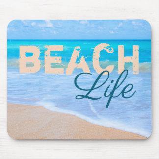 Tapis De Souris La vie de plage. Mer magnifique d'aqua et plages