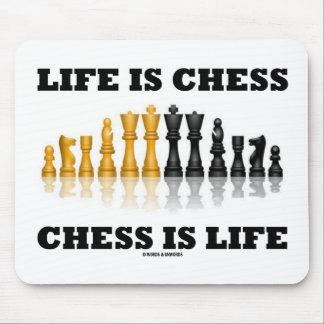 Tapis De Souris La vie est des échecs d'échecs est la vie (le jeu
