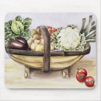 Tapis De Souris La vie toujours avec un trug des légumes 1996