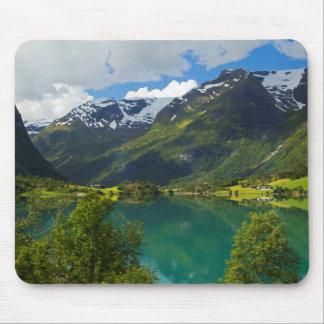 Tapis De Souris Lac Floen pittoresque, Norvège