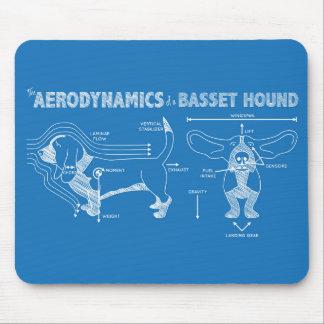 Tapis De Souris L'aérodynamique de Basset Hound