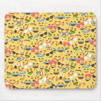 Tapis De Souris l'amour mignon d'emoji entend le motif de rire de