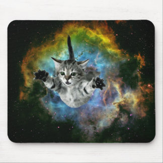 Tapis De Souris Lancement de chaton d'univers de chat de galaxie