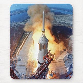 Tapis De Souris Lancement de Rocket d'alunissage de la NASA Apollo