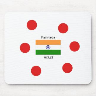 Tapis De Souris Langue de Kannada et conception indienne de
