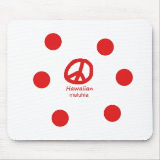 Tapis De Souris Langue et conception hawaïennes de symbole de paix