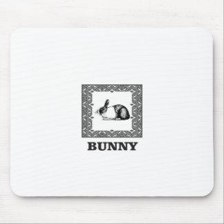 Tapis De Souris lapin noir et blanc