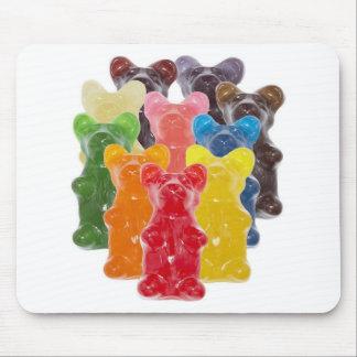 Tapis De Souris l'arc-en-ciel colore l'ours gommeux d'amant de
