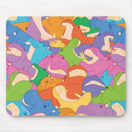Tapis De Souris Laughing Hippos - bright colours