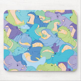 Tapis De Souris Laughing Hippos - cool colours