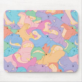 Tapis De Souris Laughing Hippos - pastel