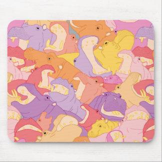 Tapis De Souris Laughing Hippos - warm colours