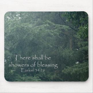 Tapis De Souris Le 34:26 d'Ezekiel là sera des douches de la