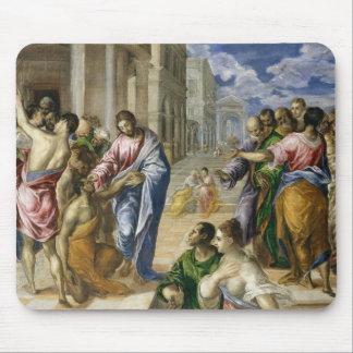Tapis De Souris Le Christ guérissant les aveugles