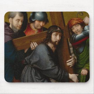 Tapis De Souris Le Christ portant la croix, avec la crucifixion