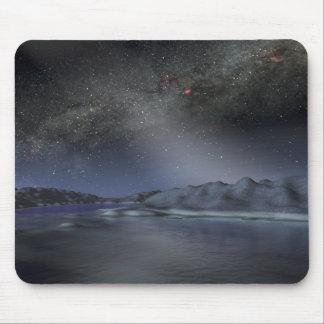 Tapis De Souris Le ciel nocturne d'une planète étrangère