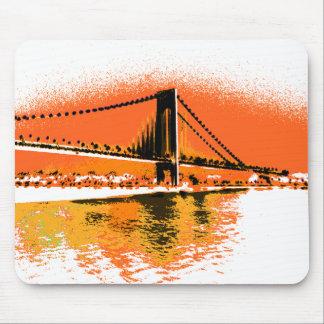 Tapis De Souris Le coucher du soleil rétrécit le mousepad de pont
