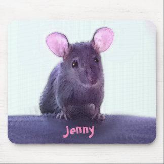 Tapis De Souris Le dessin à oreilles rose mignon de souris