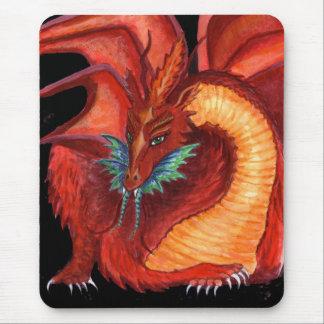 Tapis De Souris Le dragon rouge