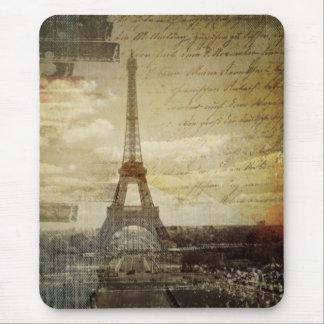 Tapis De Souris le Français scripts Tour Eiffel vintage moderne de