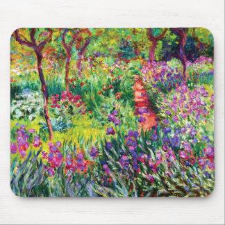 Tapis De Souris Le jardin d'iris chez Giverny par Claude Monet