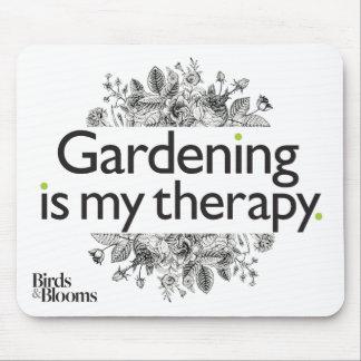 Tapis De Souris Le jardinage est ma thérapie