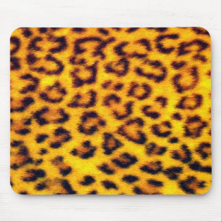 Tapis De Souris Le léopard réaliste de Faux repère le poster de