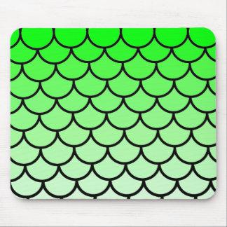 Tapis De Souris Le lézard de dragon vert mesure Mousepad