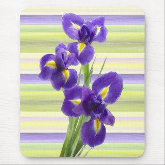 Tapis De Souris Le lilas pourpre violet irise la peinture d'art