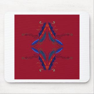 Tapis De Souris Le luxe ornemente le rouge bleu