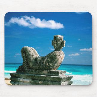 Tapis De Souris Le Mexique, plage de Cancun, Chac Mool